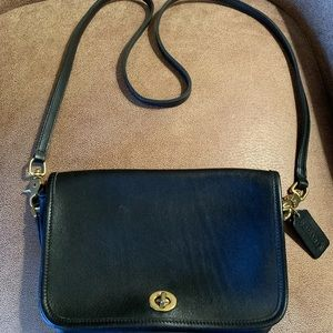 Legacy Coach cowhide leather black small purse